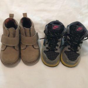 Lot of Boots/ Hi-Tops Size 7 & 8